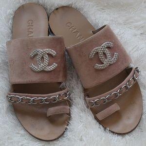 Blush Chanel Sandals Super Cute!
